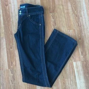 Hudson | Dark-wash Jeans w/Large Stitching